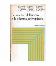 Le scienze dell'uomo e la riforma universitaria