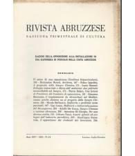 Rivista abruzzese. Rassegna trimestrale di cultura. Anno XXV 1972 n. 3-4