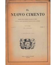 Il nuovo cimento. Vol. I Serie decima N.1 Gennaio 1955