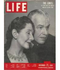 LIFE Magazine - November 21, 1949. International Edition