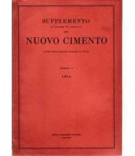 Supplemento al Volume XII Serie IX del Nuovo Cimento N. 3 1954