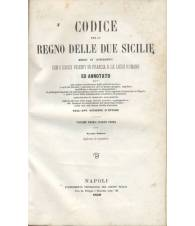 CODICE PER LO REGNO DELLE DUE SICILIE - Volume Primo Parte Prima