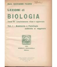 Lezioni di biologia. Vol. I. Anatomia e fisiologia animale e vegetale.