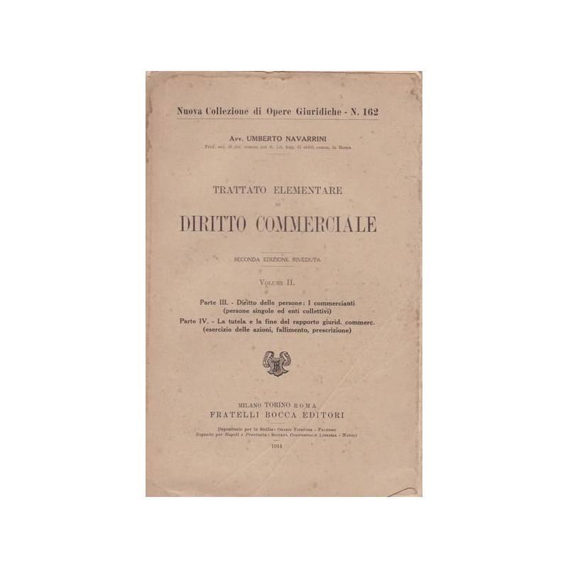 Trattato elementare di diritto commerciale. II.