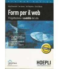 FORM PER IL WEB. Progettazione e usabilità del sito