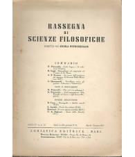 RASSEGNA DI SCIENZE FILOSOFICHE. ANNO IV. N.2