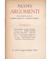 Nuovi Argomenti. N.15-16. Luglio-Ottobre 1955.