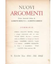 Nuovi Argomenti. N.53-54. Novembre 1961-Febbraio 1962.