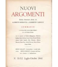 Nuovi Argomenti. N.51-52. Luglio-Ottobre 1961.