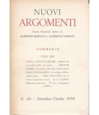 Nuovi Argomenti. N.40. Settembre-Ottobre 1959.