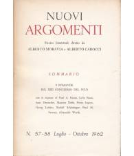 Nuovi Argomenti. N.57-58. Luglio-Ottobre 1962.