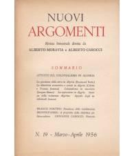 Nuovi Argomenti. N.19. Marzo-Aprile 1956.