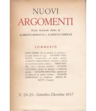 Nuovi Argomenti. N.28-29. Settembre-Dicembre 1957.