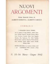Nuovi Argomenti. N.55-56. Marzo-Giugno 1962.