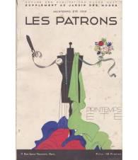 Les Patrons. Supplement au `Jardin des Modes`. Primavera-Estate 1932.