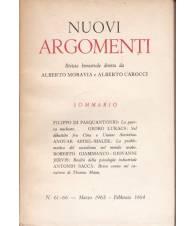 Nuovi Argomenti. N.61-66. Marzo 1963-Febbraio 1964.