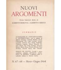 Nuovi Argomenti. N.67-68. Marzo-Giugno 1964.