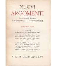 Nuovi Argomenti. N.44-45. Maggio-Agosto 1960.