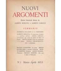Nuovi Argomenti. N.1. Marzo-Aprile 1953.