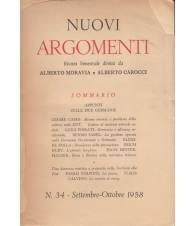 Nuovi Argomenti. N.34. Settembre-Ottobre1958.
