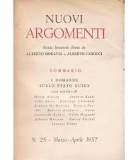 Nuovi Argomenti. N.25. Marzo-Aprile 1957.