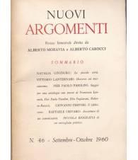 Nuovi Argomenti. N.46. Settembre-Ottobre 1960.