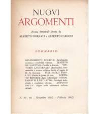 Nuovi Argomenti. N.59-60. Novembre 1962-Febbraio 1963.