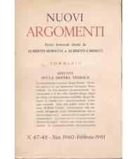 Nuovi Argomenti. N.47-48. Novembre 1960-Febbraio 1961.
