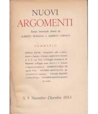Nuovi Argomenti. N.5. Novembre-Dicembre 1953.