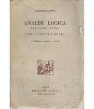 ANALISI LOGICA ITALIANO-LATINA PER LA SCUOLA MEDIA