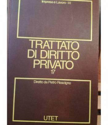 Trattato di diritto privato. 17. Impresa e lavoro. Tomo III.