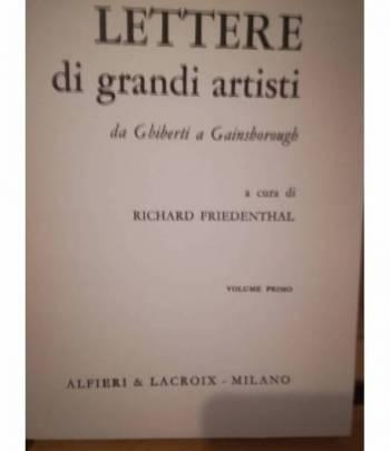 Lettere di grandi artisti. I. II.