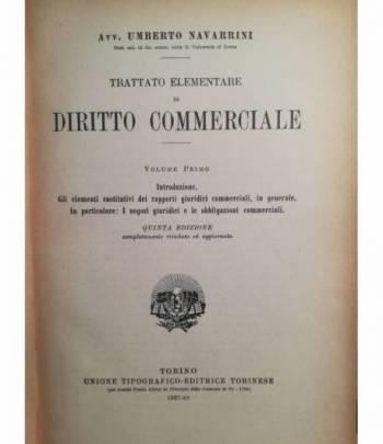 Trattato elementare di diritto commerciale. I. II.