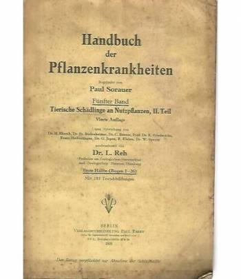 Handbuch der planzenkrankheiten