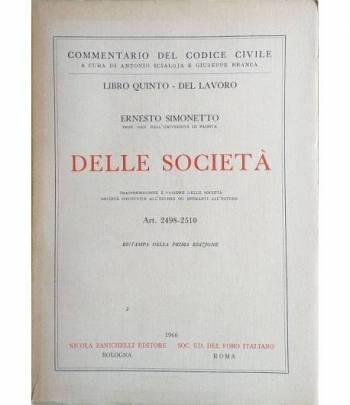 Libro Quinto - del Lavoro: Delle Società art. 2498-2510