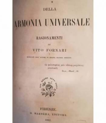 Della armonia universale. Ragionamenti di Vito Fornari.