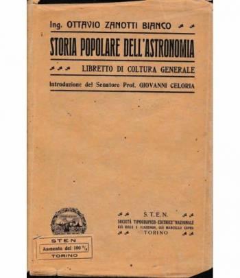 Storia popolare dell'astronomia. Libretto di coltura generale