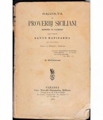 Raccolta di proverbi Siciliani ridotti in canzoni