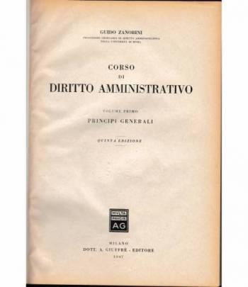 Corso di diritto amministrativo vol. 1°
