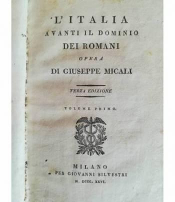 L'Italia avanti il dominio dei romani. I.