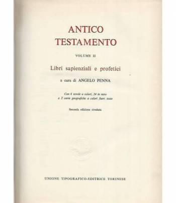 La sacra Bibbia. Antico testamento. Volume II