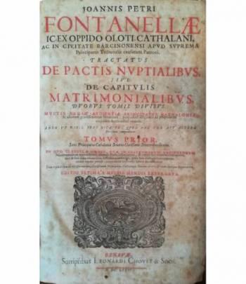 Tractatus de pactis nuptialibus sive de capitulis matrimonialibus. I. II.