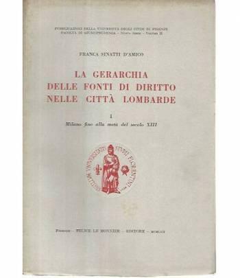 La gerarchia delle fonti di diritto nelle città lombarde. 1 Milano fino alla metà del secolo XIII