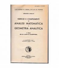 Analisi matematica e geometria analitica. 1ª parte.