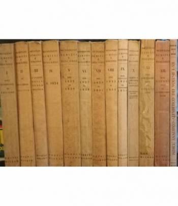 Scritti e discorsi di Benito Mussolini. Edizione Definitiva. (12 volumi + 1 volume di Indici).