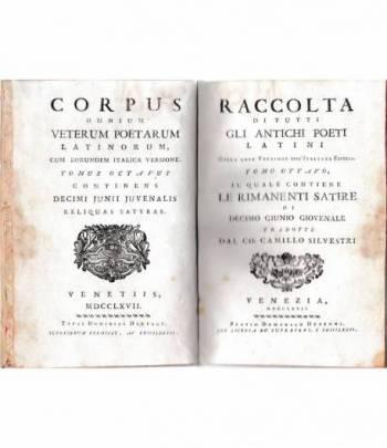 Raccolta di tutti gli antichi poeti Latini. Tomo ottavo. Bilingue Latino Italiano