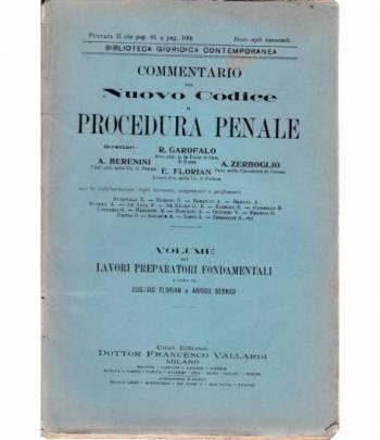 Commentario del Nuovo Codice di procedura penale. Puntata II (da pag. 81 a pag. 160)