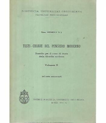Testi chiave del pensiero moderno. Volume II