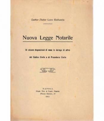 Nuova Legge Notarile