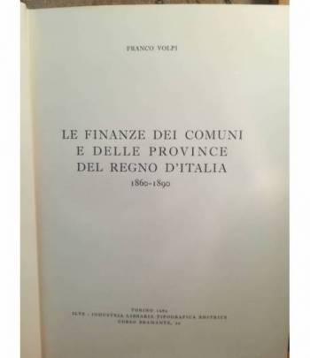 Le finanze dei Comuni e delle Province del Regno d'Italia (1860-1890).